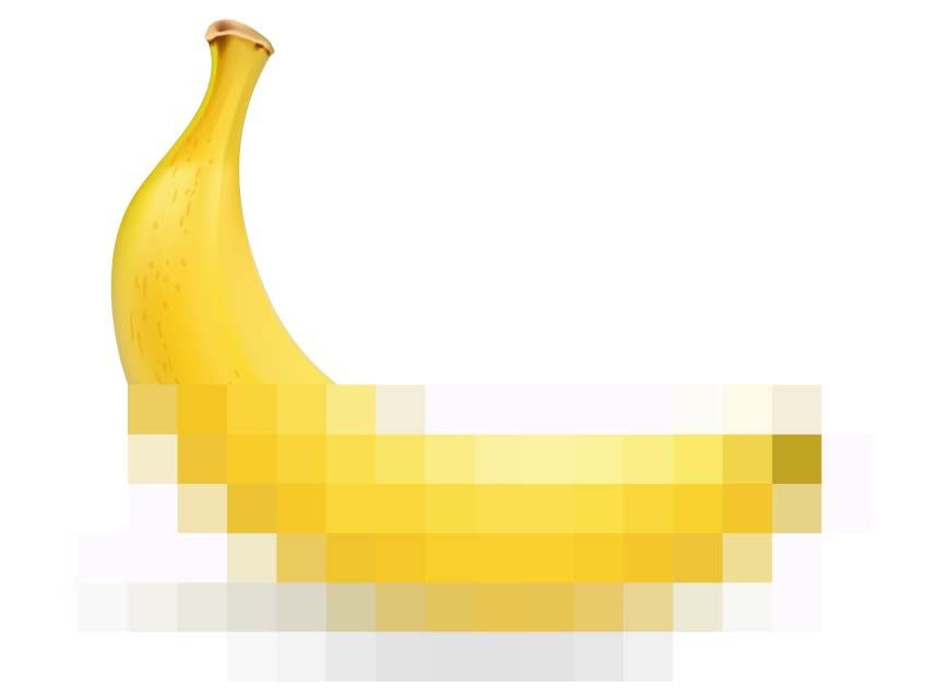 censored banana